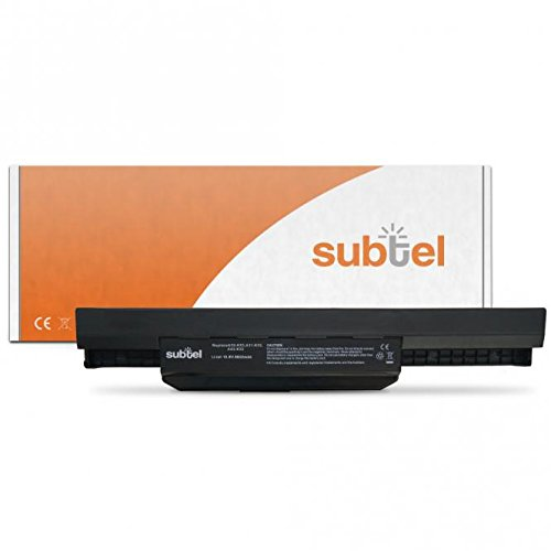 subtel® Qualitäts Akku (6600mAh) für Asus A43 / A44 / A53 / A54 / A83 / A84 / K43 / K53 / K84 / P43 / P53 / Pro4J / Pro5N A32-K53 (10.8V)* Notebookakku Laptopakku Ersatzakku Batterie