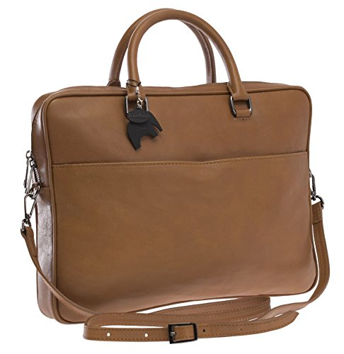Big Handbag Shop, Borsa a mano uomo Taglia unica Light Tan