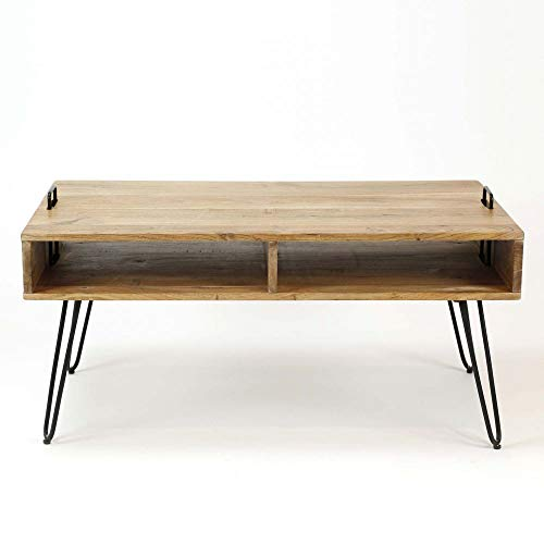 PierImport Table Basse scandinave Bois Massif 100 cm Melbourne