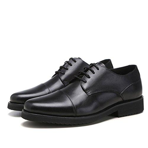 HHY-Autunno e Inverno scarpe scarpe di cuoio Abito in pizzo occupazione uomini rotonda black