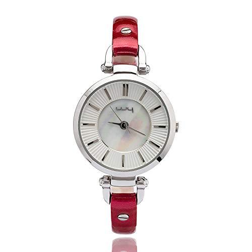 Reloj De Cuarzo para Mujer Reloj Correa De Cuero Alto Grado Temperamento Brillante Color Espejo Señoras...