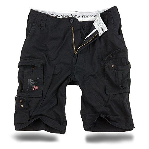 Trooper Shorts Lightning Edition Schwarz gewaschen - 3XL