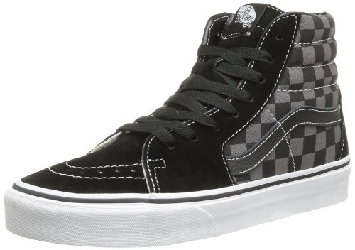 Vans U Sk8 Hi - Baskets Mode Mixte Adulte - Noir (Checkerboard/Black/Pewter) - 42 EU (Taille Fabricant : 9 US)