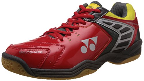 Yonex SHB 46EX Badminton Shoes, UK 8 (Shine Red)