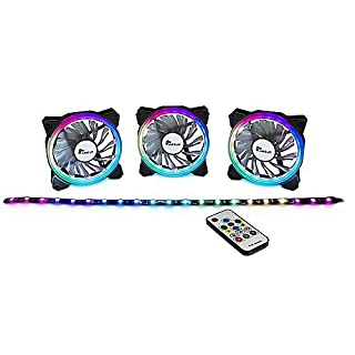 Inter-Tech Lüfter 120 * 120 * 25 Argus RS 03 RGB-Fan Set