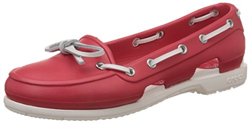 c501faa009deed Crocs 14261-646 Womens Beach Line Boat Shoe Red And White Boat Shoes- Price  in India