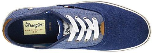 Wrangler Legend, Baskets Basses homme Bleu - Blau (377 NAVY/CHAMBRAY)