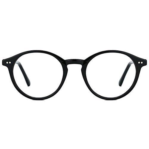 TIJN Round Optische Brillen nicht verschreibungspflichtigen Brillen Rahmen mit klaren Gläsern für...
