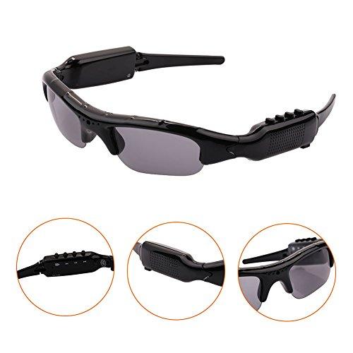 Giantree Gafas de sol Cámara oculta Mini Cámara Videocámara Gafas de sol Reproductor de MP3 Soporte Tarjeta micro SD