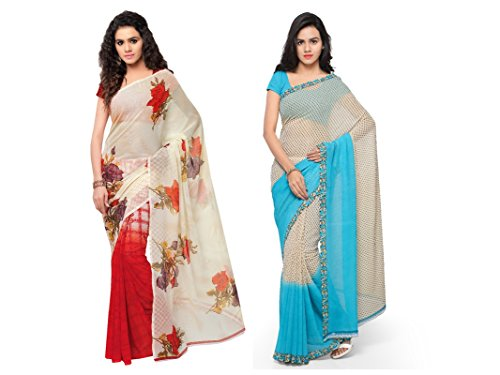 Anand Sarees Faux Georgette Combo Of Saree (Mnp_1080_1194_2_Multicolor_Free Size)