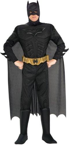 KULTFAKTOR GmbH Batman-Kostüm für Herren Superheld Lizenzware schwarz XL