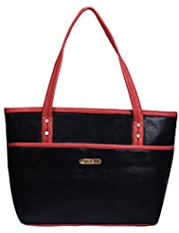 Fristo Women Handbag(FRB-138)Black And Orange