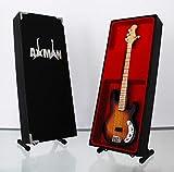 AC/DC Cliff Williams Bass-Modell Mini Rock Kuriositäten Nachbildung Holz Miniatur Bass Gitarre & Display Gratis Ständer (UK Verkäufer)