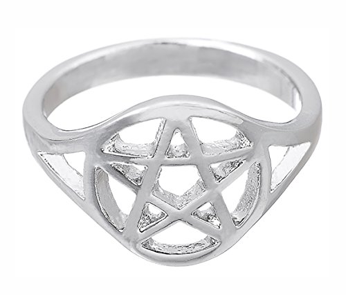Lemegeton Wicca Pentagram Pentacle Anillo hombres