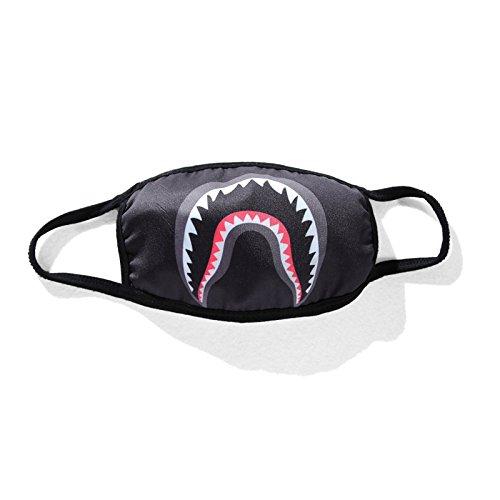 Sissiren Unisex Haizähne Mundschutz Maske Kälteschutz Gesichtsmaske Schwarz