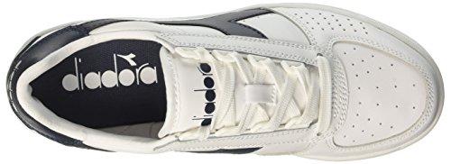 Diadora B. Elite, Sneaker a Collo Basso Unisex-Adulto Multicolore (C5943 Bianco/Blu Profondo/Blu Profon)