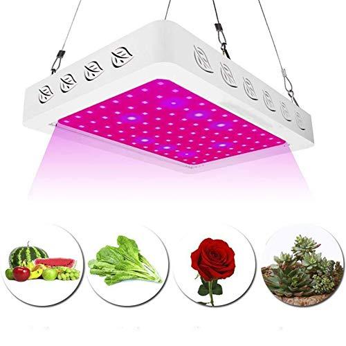 600W LED Wachsen, Full Spectrum Doppel Chips Wachsen Lampe Mit UV & IR High Power Für Gewächshaus Indoor Pflanzen Blumen Wachsen Zelt