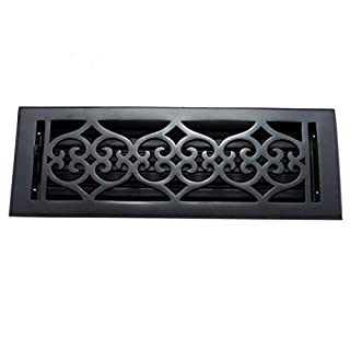Adonai Hardware Flower Cast Iron Wall And Floor Register with Louver - 2-1/4