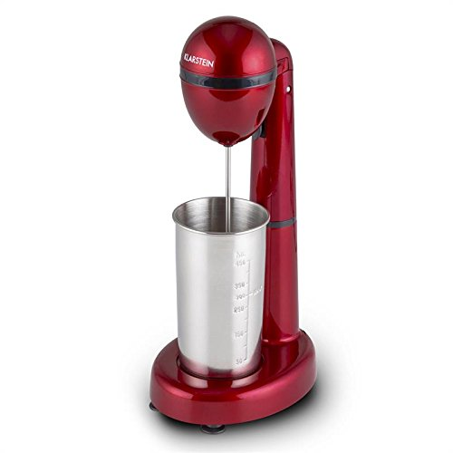 Klarstein van damme • mini blender • frullatore • mixer per bevande e frappè • miscelatore per cocktail • 450 ml • caraffa in acciaio inox • velocità regolabile • colore rosso