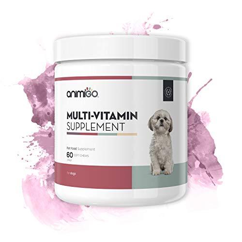 Animigo Suplemento Multivitamínico para Perros. 60 Comprimidos Masticables para Salud y Bienestar