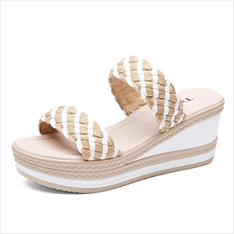 la femme femme femme a été ouvert des sandales bas chaussures sandales épais roFemme tep tissés (taille: eu37 pente pantoufles...b07cnbt188 parent | En Vente  a7e44a