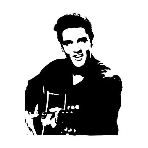 GLYOUNG Wandaufkleber Rockmusik Elvis Presley Vinyl Dekoration Wandtattoos Wohnkultur Kreative Musik Party Supply (Musik, Party Supplies)