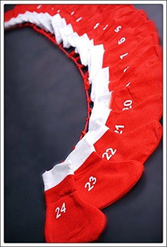 Adventskette mit XXL Socken (18x20cm) - Adventskalender zum selber befüllen