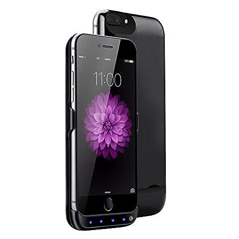 Mondpalast@ Diamantschwarz 8000 mah Akkuhülle Batterie Hülle Case externe Batterie Akku Case Hülle Zusatzakku Power Pack Cover für Apple iphone 7 plus iPhone7 Plus IPHONE 7 PLUS 5,5
