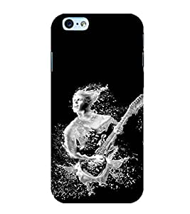 Fuson Premium Back Case Cover Man with Guitar With Multi Background Degined For Apple iPhone 6S