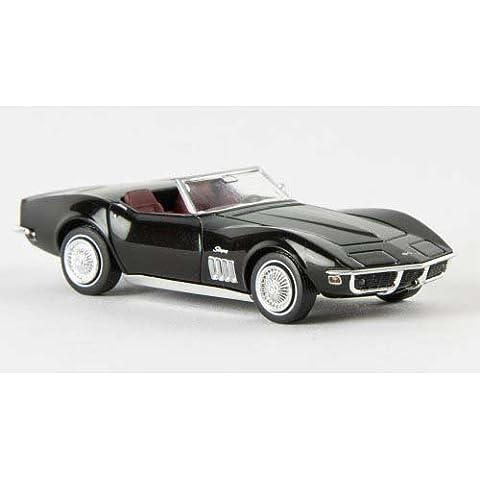 Chevrolet Corvette C3 Convertible, negro, Modelo de Auto, modello completo, Brekina 1:87