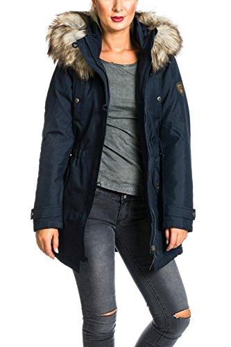 ONLY Damen Jacke Onliris Parka Otw, Blau (Night Sky), 40 (Herstellergröße: L) -