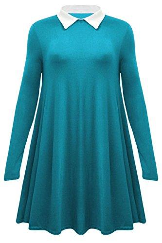Vanilla Inc - Chemisier - Tunique - Manches Longues - Femme Turquoise