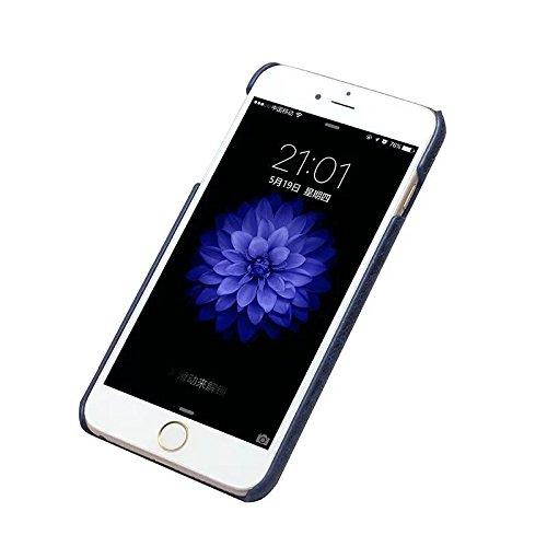EKINHUI Case Cover Straußenfuß Muster Premium Echtleder Rücken Schutzhülle Case Leichtgewicht Thin Case für IPhone 6 Plus & 6s Plus ( Color : Gray ) Blue