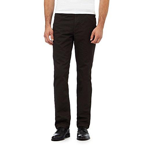 j-by-jasper-conran-mens-dark-green-textured-waffle-trousers-36r