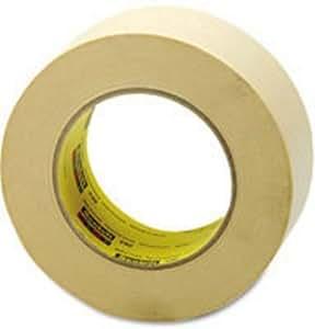 Scotch ruban adh sif de masquage 50 mm x 50 m pour des applications g n rales 5 roulettes - Scotch de masquage ...