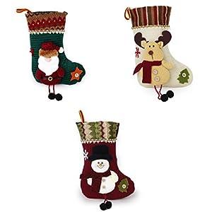 3x Navidad Calcetin Almacenamiento De