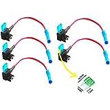 Qiorange 5Pcs Mini ATM APM Flachsicherungsadapter Sicherungshalter f¨¹r Spannungsabgriff KFZ Flachsicherungen Autosicherungs (Mini 5Pcs)