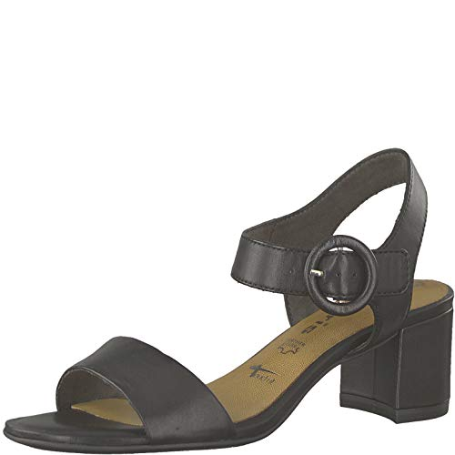 Tamaris Damen 1-1-28324-22 Riemchensandalen, Schwarz (Black Leather 3), 40 EU -