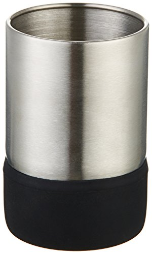 Moderner Zahnbürstenhalter (AmazonBasics - Becher, Edelstahl, Schwarz)