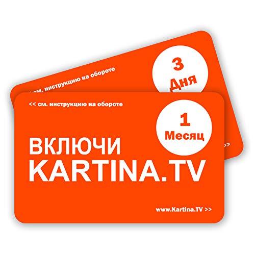 Kartina TV Premium Paket - russische IPTV (1 Monat ohne Vertragsbindung) - Картина ТВ - Русское Телевидение - Абонемент на 1 месяц (без договора)