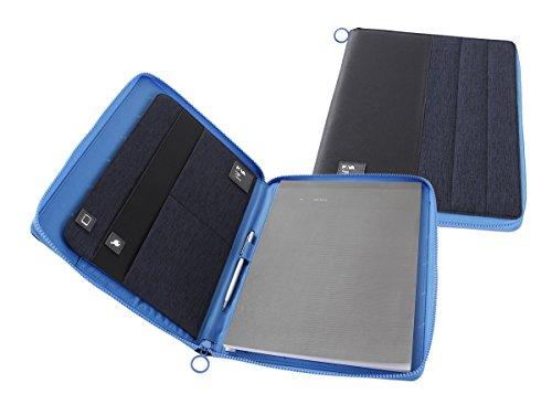 Nava design Passenger A4portadocumenti con zip per blocco note–blu/azzurro