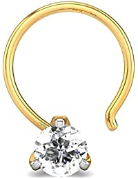 Candere By Kalyan Jewellers Charlotte 18k Yellow Gold and Diamond Nosepin