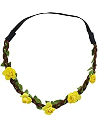 Sanwood Boho Couronne de fleurs cheveux