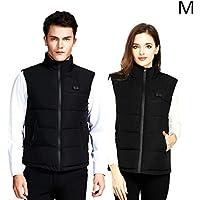 Jinclonder Intelligent Heated Vest, USB Charging Three de Speed Adjustment Temperature Clothes for Outdoor Sport, Color Negro, tamaño Medium