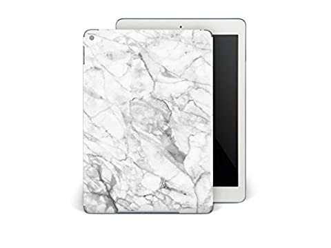 Apple iPad Air 2 Autocollant | Coque protéger arrière Tablette Tactile | Skin vinyle sticker - image photo classe | Design Marbre Blanc