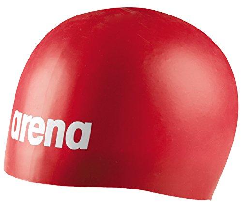 Arena moulded pro, cuffia unisex-adulto, rosso, taglia unica