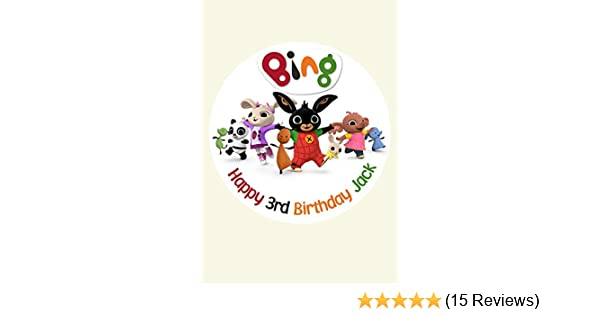 Bing Personalised Personalized Cake Topper Icing Sugar Paper 7 5
