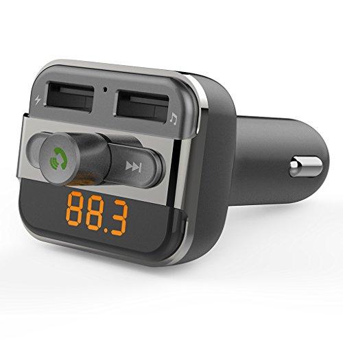 Fm-transmitter Für Auto Blitz (SEGURO Drahtloser Bluetooth FM Übermittler-Auto-Installationssatz-Hand-frei Anruf-Radio-Empfänger Doppel-USB-MP3-Audiospieler-Unterstützungs-USB-Blitz-Fahrer u. Mikro-Sd-Karte für Apple iPhone iPod iPad Android Smartphone etc.)