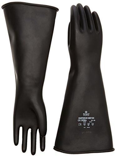 Souci ME104–8,5 Poids moyen gants à crispin, grand, noir