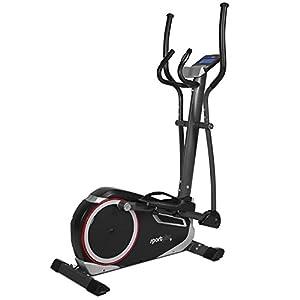 SportPlus Crosstrainer mit App-Steuerung, Google Street View, Wattanzeige, ca. 17kg Schwungmasse, 24 Widerstandsstufen, Handpulssensoren, Nutzergewicht bis 150kg, Sicherheit geprüft
